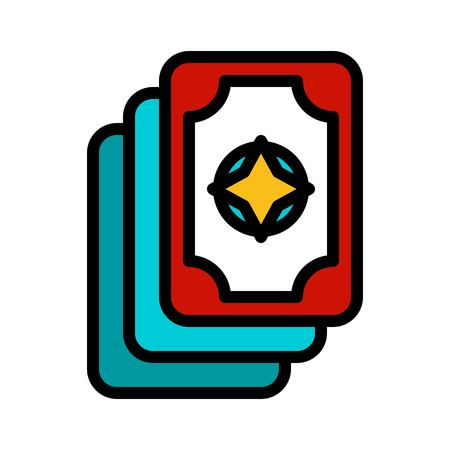 Card vector, Magic related filled design editable stroke icon