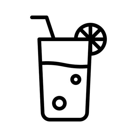 Juice vector, Barbecue related line design editable stroke icon