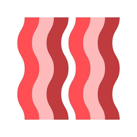 Bacon vector, Barbecue related flat design icon Çizim