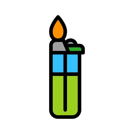 Lighter vector, Barbecue related filled design editable stroke icon