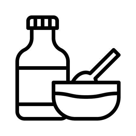 Sauce vector, Barbecue related line design editable stroke icon