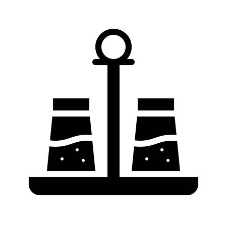 Salt and pepper vector, Barbecue related solid design icon 向量圖像