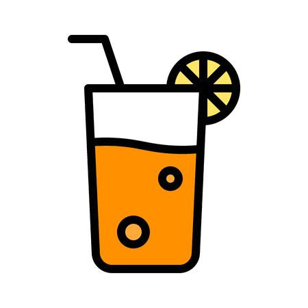 Juice vector, Barbecue related filled design editable stroke icon Çizim