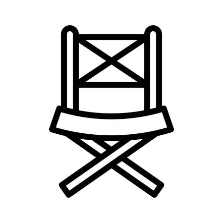 Picnic chair vector, Barbecue related line design editable stroke icon