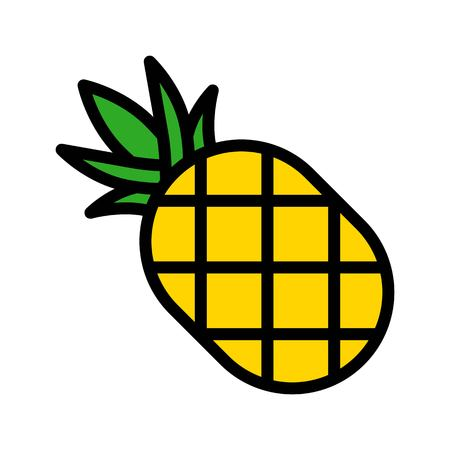 Pineapple vector, Barbecue related filled design editable stroke icon