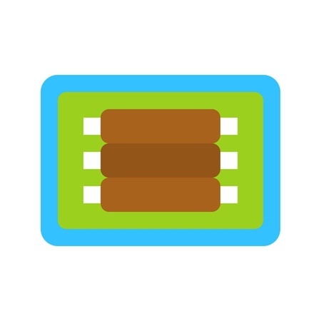 Beef rib vector, Barbecue related flat design icon