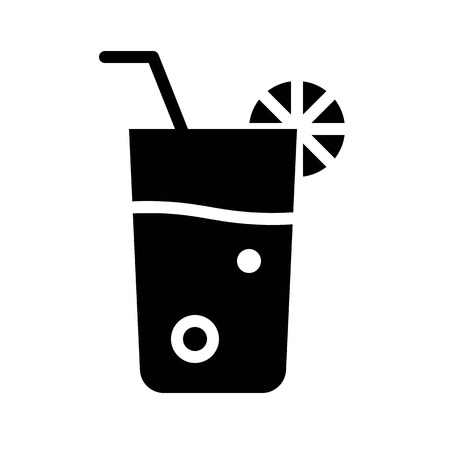Juice vector, Barbecue related solid design icon