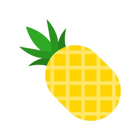 Pineapple vector, Barbecue related flat design icon