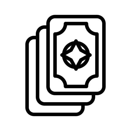 Card vector, Magic related line design icon Çizim