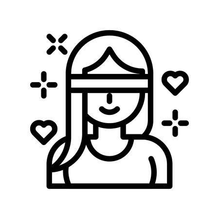 Love is blind vector, Valentine and love related line style icon