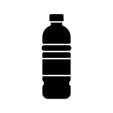 Plastic bottle vector illustration, solid design icon