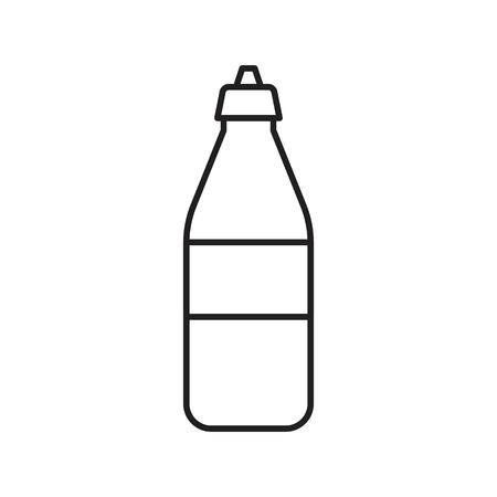 Plastic bottle vector illustration, line design icon Vektoros illusztráció