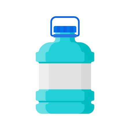 Plastic bottle vector illustration, flat design icon