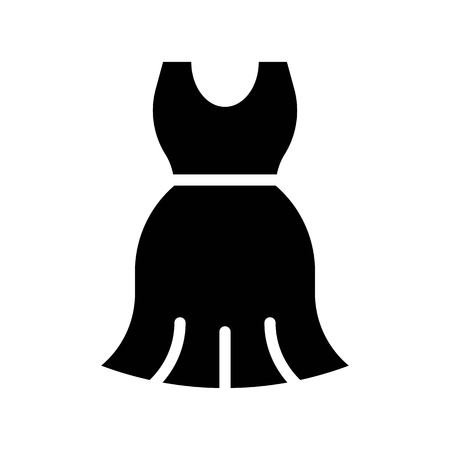 Women dress vector illustration, solid design icon