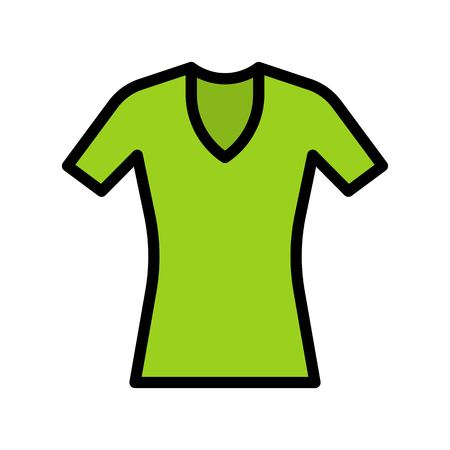Women dress vector illustration, filled design editable outline icon