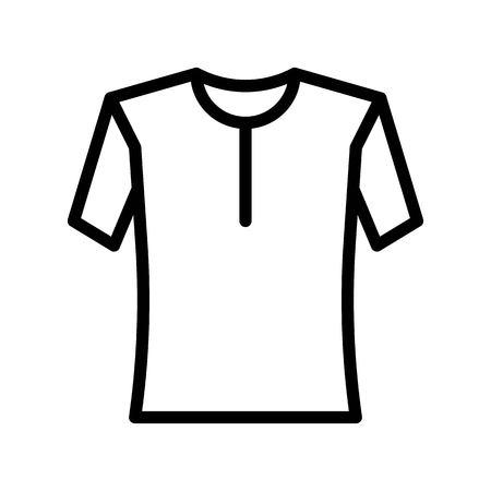 Shirt or Blouse vector illustration, line design icon