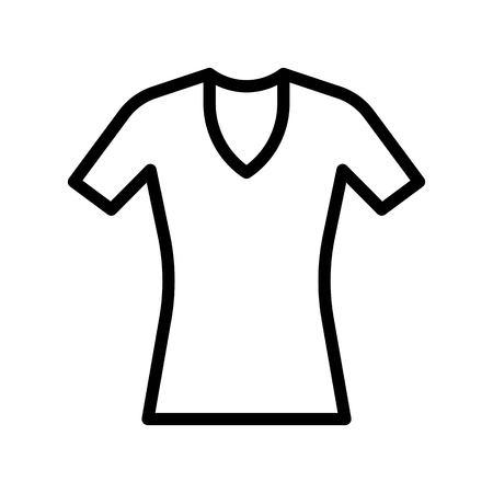 Women dress vector illustration, line design icon