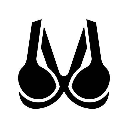 Bra or Brassiere vector illustration, solid design icon