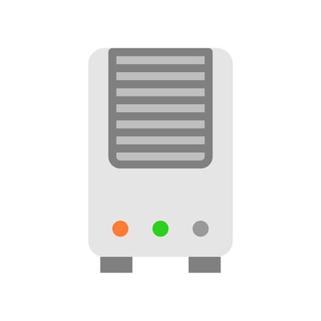 Air Purifier vector illustration, Isolated filat design icon
