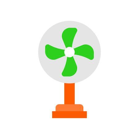 Stand fan vector illustration, Isolated filat design icon Illustration