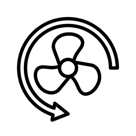 Propeller vector illustration, Isolated line design icon Vetores