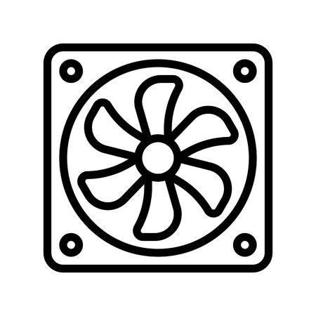 Exhaust fan vector illustration, Isolated line design icon 向量圖像