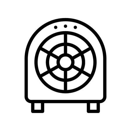 Floor fan vector illustration, Isolated line design icon