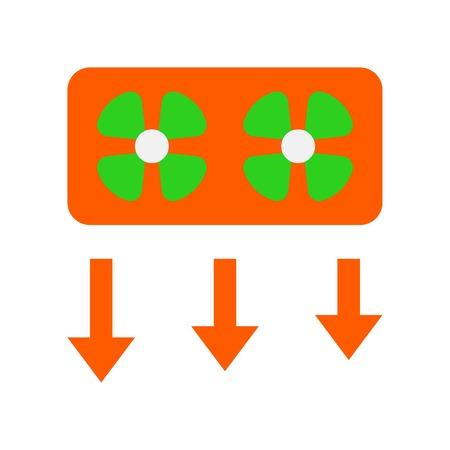 Window fan vector illustration, Isolated filat design icon