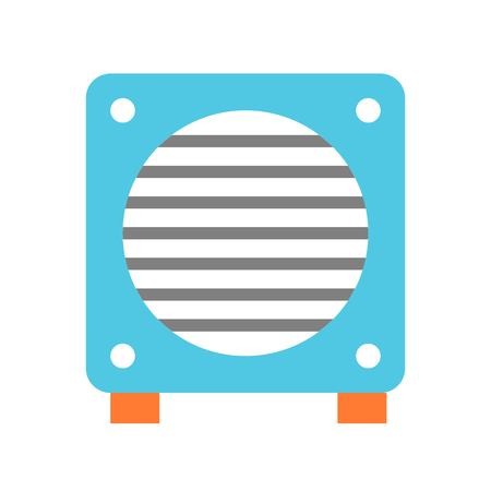 Exhaust fan vector illustration, Isolated filat design icon