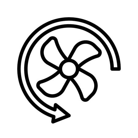 Propeller vector illustration, Isolated line design icon