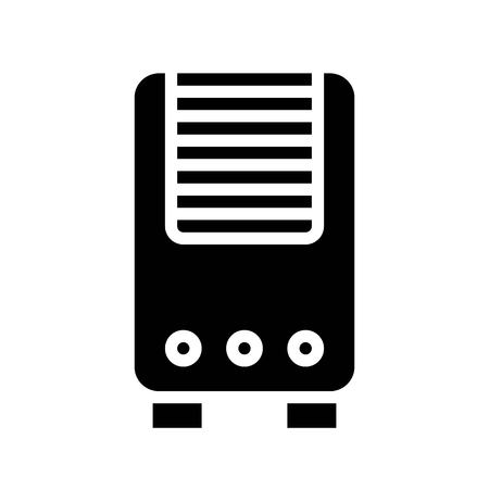 Air Purifier vector illustration, Isolated solid design icon Illustration