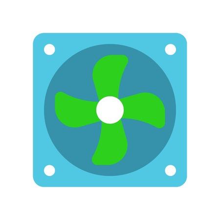 Exhaust fan vector illustration, Isolated filat design icon