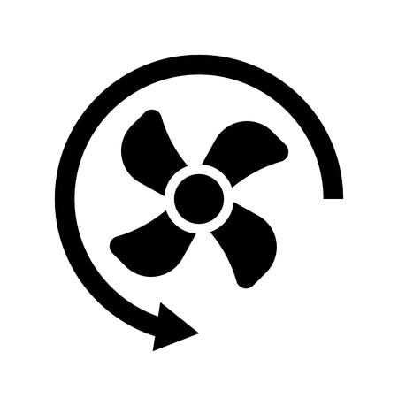 Propeller vector illustration, Isolated solid design icon