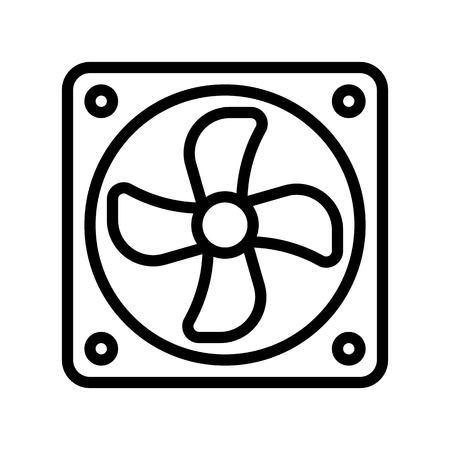 Exhaust fan vector illustration, Isolated line design icon Illustration