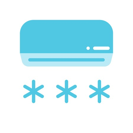 Air conditioner vector illustration, Isolated filat design icon