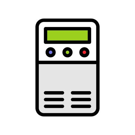 Air Purifier vector illustration, filled design icon editable outline Иллюстрация
