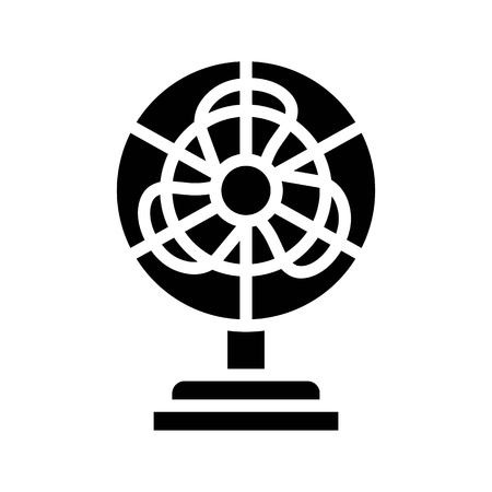 Stand fan vector illustration, Isolated solid design icon