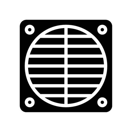 Fan net vector illustration, Isolated solid design icon