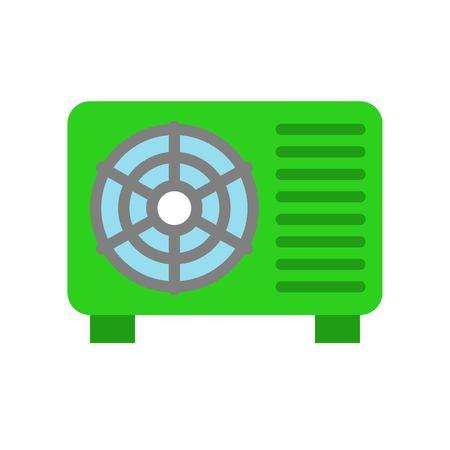 Air conditioner compressor unit vector illustration, Isolated filat design icon Illustration