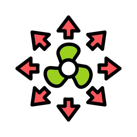Propeller vector illustration, filled design icon editable outline