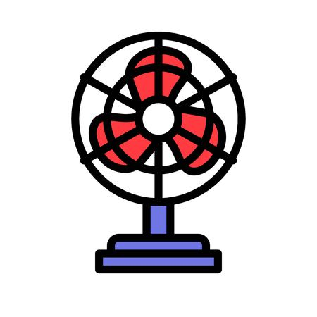 Stand fan vector illustration, filled design icon editable outline