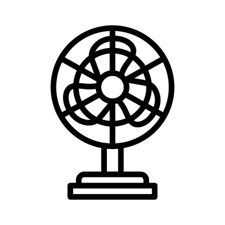 Stand fan vector illustration, Isolated line design icon