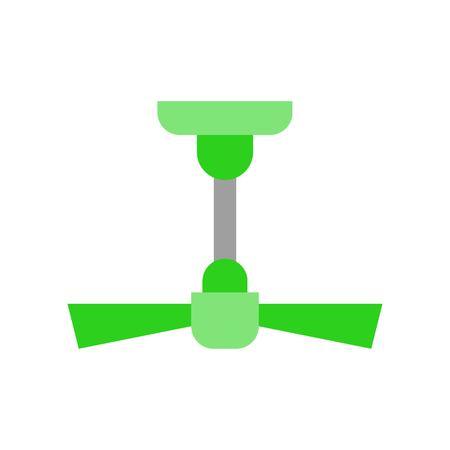 Ceiling fan vector illustration, Isolated filat design icon Illustration
