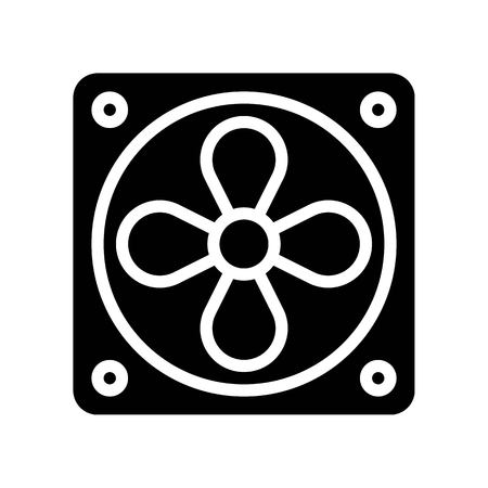 Exhaust fan vector illustration, Isolated solid design icon