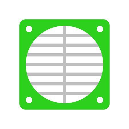 Fan net vector illustration, Isolated filat design icon