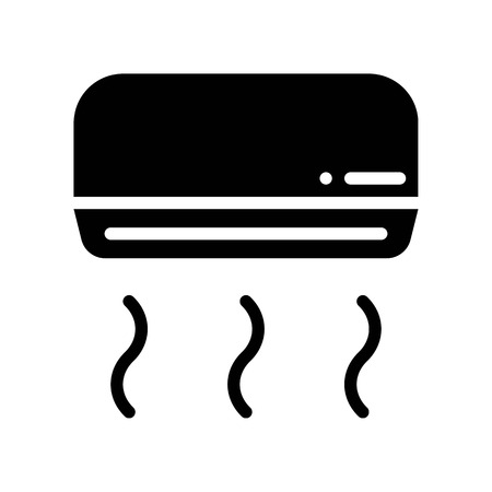 Air conditioner vector illustration, Isolated solid design icon Illustration