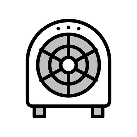 Floor fan vector illustration, filled design icon editable outline Illustration