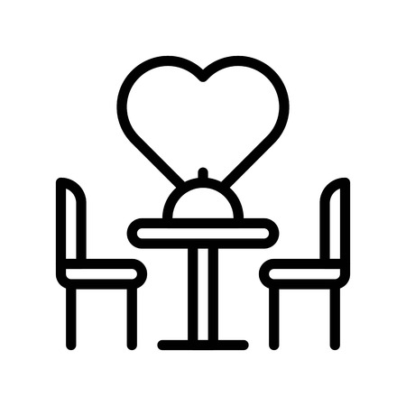 Dinner vector illustration, Isolated line design icon