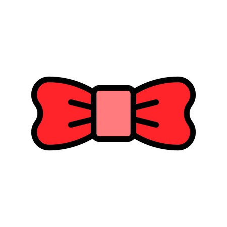 Bow tie vector illustration, filled style icon editable outline
