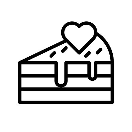 Cake vector illustration, Isolated line design icon
